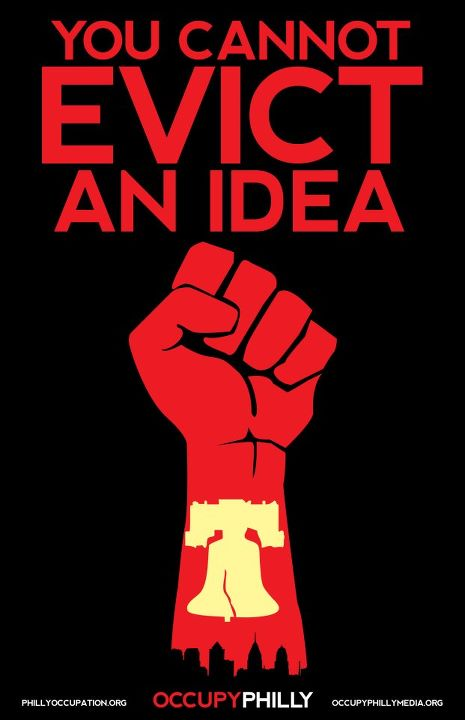 You cannot evict and idea..