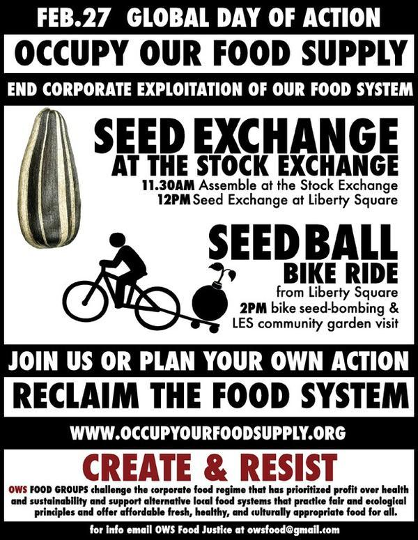 occupy our food supply!