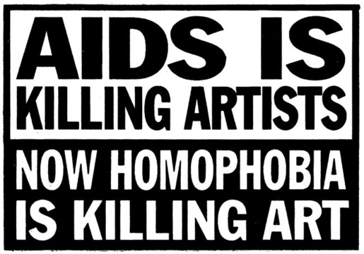 ACT UP: Aids is Killing Artists