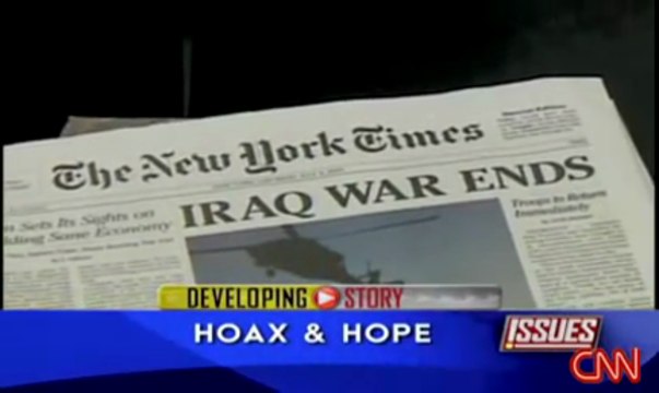 Spoof NYT Iraq Qar Ends on CNN