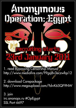 Anonymous Operation Egypt (poster)