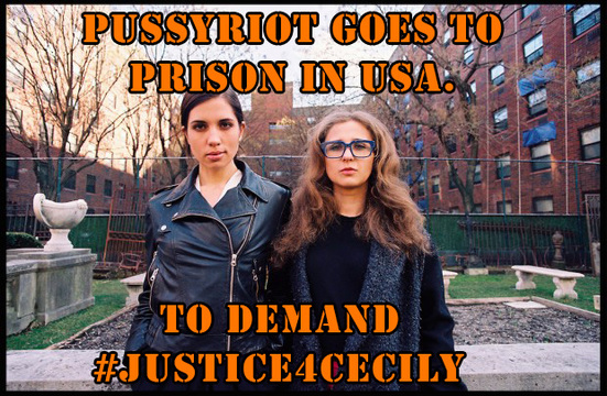 Pussy Riot goes to prison in the USA (#Jutsice4cecliy)