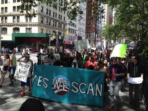 "Restore the Fourth NYC - ""Yes We Scan!"""